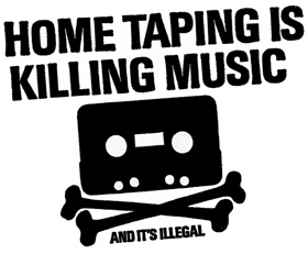 """""""Home Taping Is Killing Music"""", 1980"""