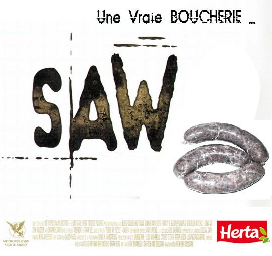 Affiche parodique du film Saw VI.