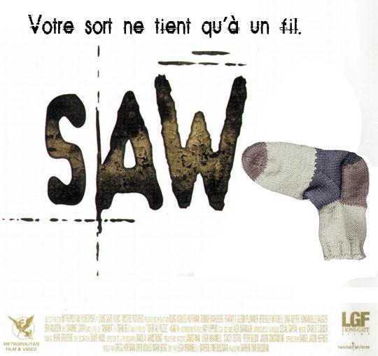 Affiche parodique du film Saw VII.