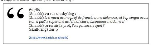 L'ancien style des blocs 'citation'
