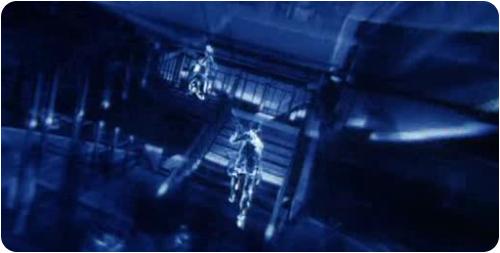 Image tirée du film : la vision sonar de batman.